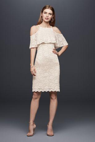 Short Sheath Boho Wedding Dress   DB Studio