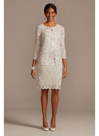Short Sheath Jacket Guest of Wedding Dress - Marina