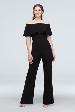Long Jumpsuit Off the Shoulder Dress - Jump