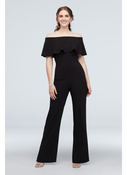 Long Jumpsuit Off the Shoulder Cocktail and Party Dress - Jump