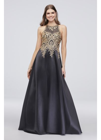 Long Ballgown Halter Cocktail and Party Dress - Xscape