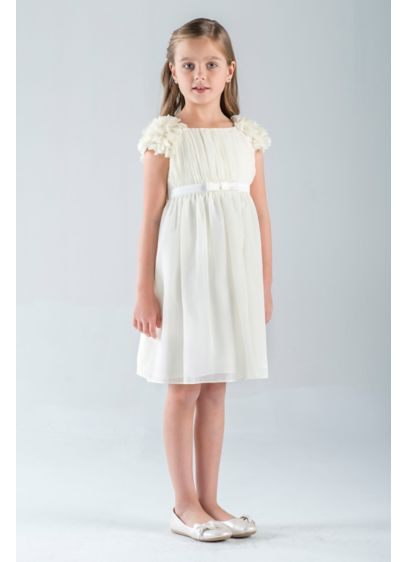 63f64a7c4 Petal-Sleeve Chiffon A-Line Flower Girl Dress