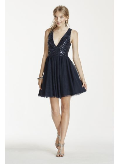 Short Ballgown Tank Cocktail and Party Dress - Trixxi