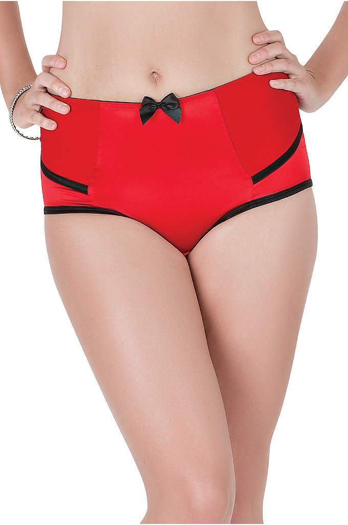 Parfait Charlotte High Waist Brief - This Parfait panty features silky-smooth satin fabric you