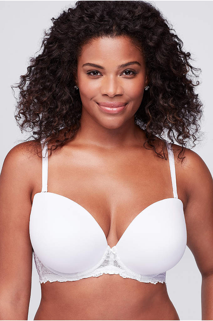 Dominique Butterfly Bra - Full-figure, convertible strapless bra with lovely lace detail