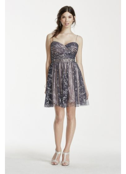 Short A-Line Spaghetti Strap Cocktail and Party Dress - Jump