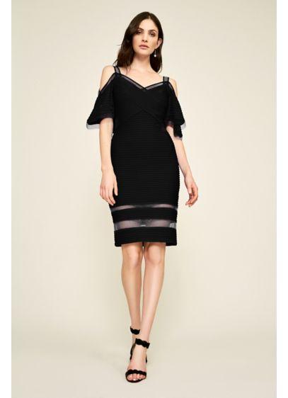 Short Sheath Off the Shoulder Cocktail and Party Dress - Tadashi Shoji