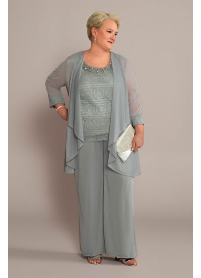 Long Jumpsuit Jacket Cocktail and Party Dress - RM Richards