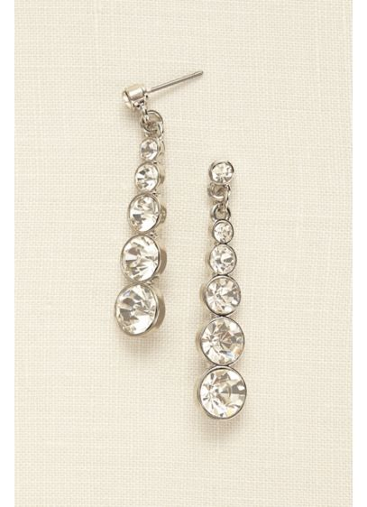 Graduated Crystal Drop Earrings - Wedding Accessories
