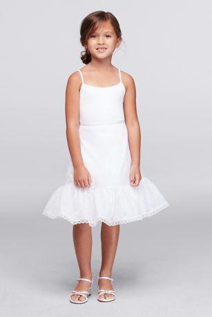Flower girl tea length slip davids bridal long dress davids bridal mightylinksfo