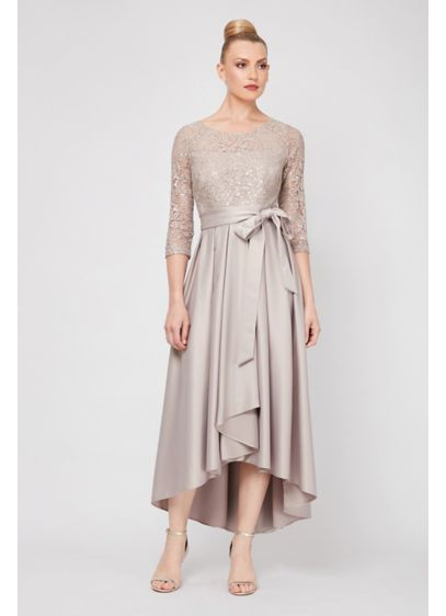 High Low Ballgown 3/4 Sleeves Cocktail and Party Dress - Ignite