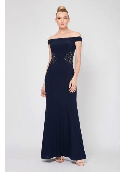 Long A-Line Off the Shoulder Formal Dresses Dress - Ignite
