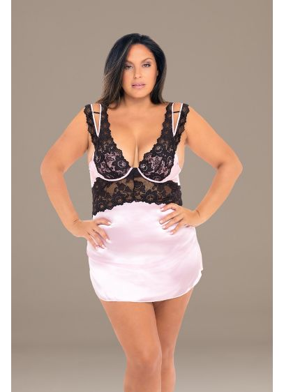 Nadine Lace Plus Chemise with Padded Cups - You'll look like a million bucks in this