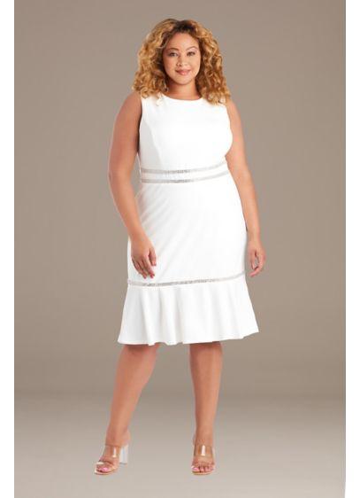Short Sheath Wedding Dress - RM Richards