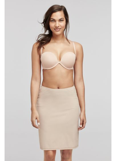 Dominique Beige (Dominique Knee Length Social Occasion Half Slip)