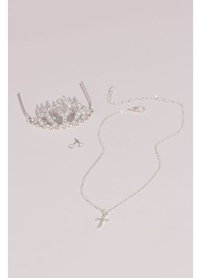 David's Bridal Grey (Three-Piece Flower Girl Jewelry Set)