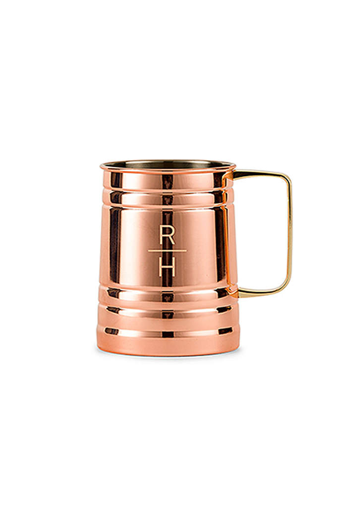 Personalized Stacked Monogram Moscow Mule Stein - This Personalized Stacked Monogram Moscow Mule Stein is