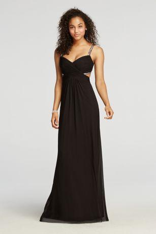 Black Long Formal Cut Out Dresses