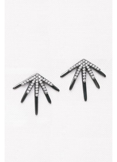 Crystal Burst Front-Back Earrings - Wedding Accessories