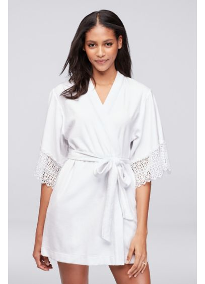 Betsey Johnson Embroidered Terry Cloth Mrs Robe - Wedding Accessories