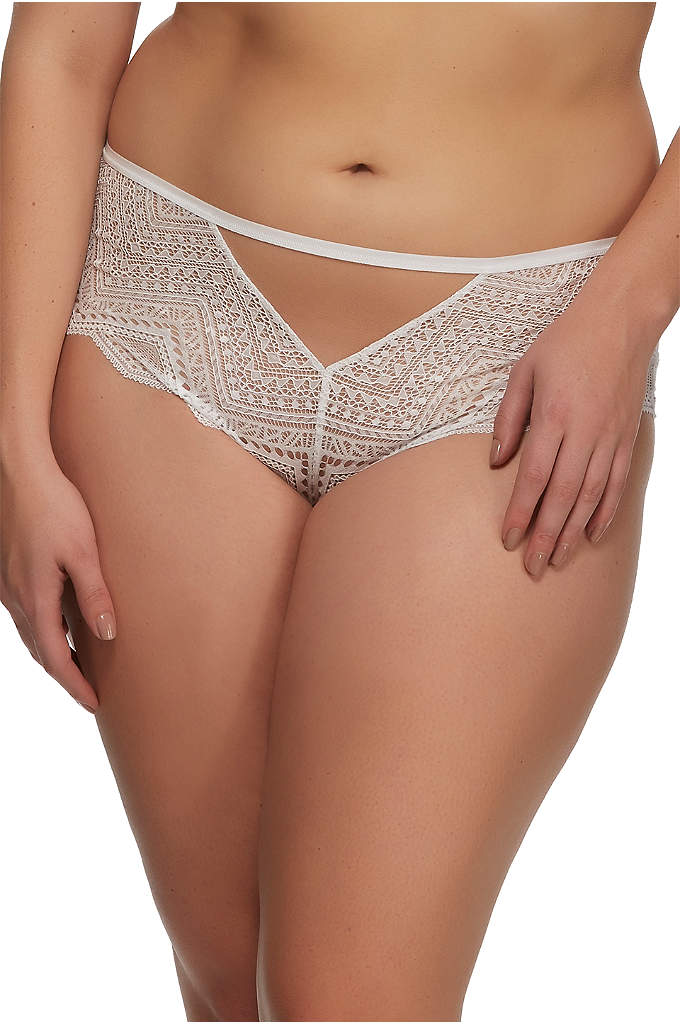 Paramour Stunning Hipster - These dramatic hipsters features tulle and geometric lace
