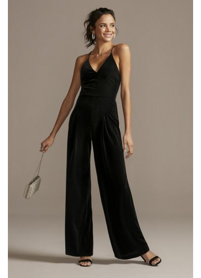 Long Jumpsuit Spaghetti Strap Cocktail and Party Dress - Teeze Me