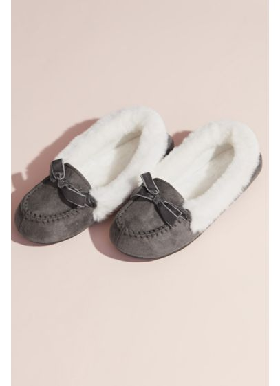 Jessica Simpson Faux Shearling Moccasin Slipper - Put your feet up and take a break