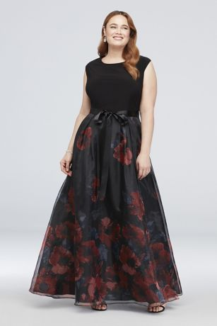 Long Ballgown Cap Sleeves Dress - Ignite