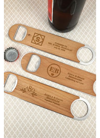 Brown (Personalized Wood Paddle Bottle Openers)
