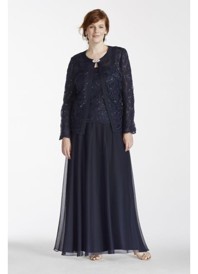 Long A-Line Jacket Formal Dresses Dress - Cachet