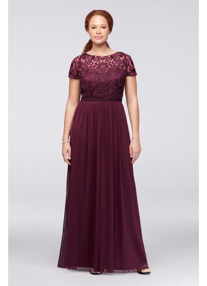 Long A-Line Short Sleeves Formal Dresses Dress - Cachet