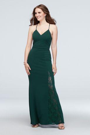Long Mermaid/ Trumpet Spaghetti Strap Dress - City Triangles