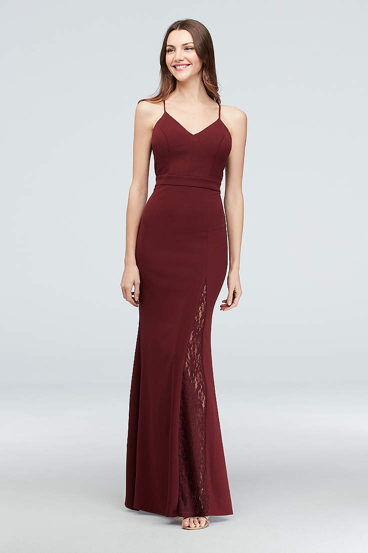 33987653cb5f9 Burgundy & Wine Prom Dresses - Dark Red Gowns | David's Bridal