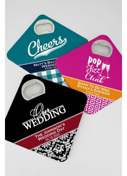 Personalized Bottle Opener Coasters - Double the function means double the FUN! Personalized