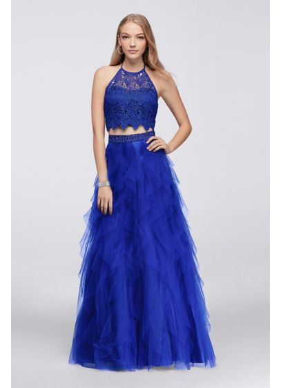 Long Ballgown Halter Cocktail and Party Dress - Masquerade