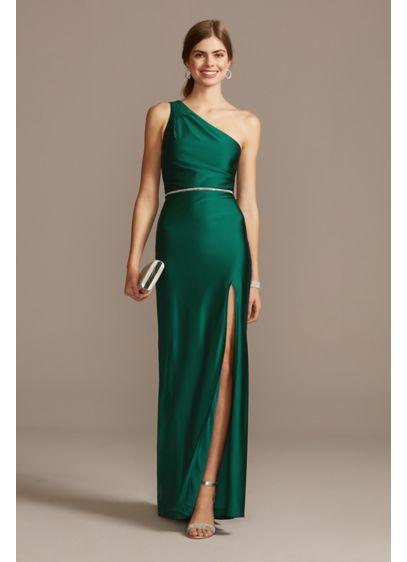 Long Sheath One Shoulder Formal Dresses Dress - City Triangles