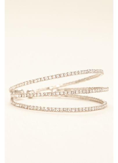 David's Bridal Grey (Three Row Crystal and Rhinestone Cuff)