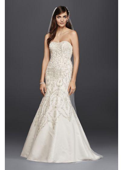 Petite Tulle Beaded Mermaid Wedding Dress | David\'s Bridal
