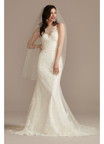 Long Sheath Country Wedding Dress - Oleg Cassini