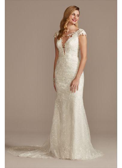 Long Sheath Glamorous Wedding Dress - Galina Signature