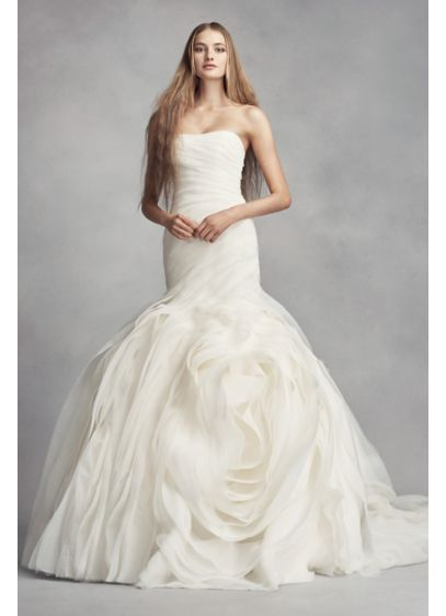 Long Mermaid/ Trumpet Wedding Dress - White by Vera Wang