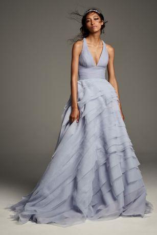Long A-Line Wedding Dress - White by Vera Wang