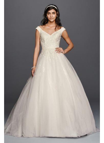 Long Ballgown Boho Wedding Dress - Jewel