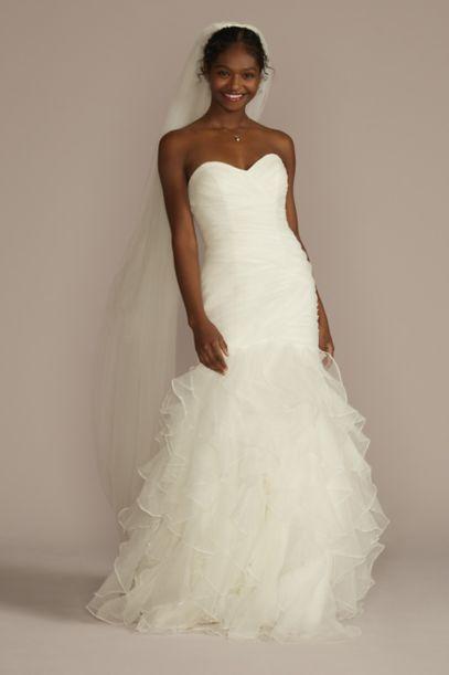 Petite Mermaid Wedding Dress With Ruffled Skirt David S