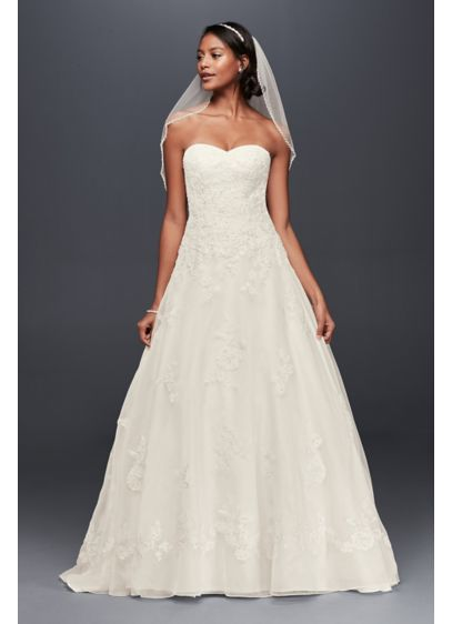 Long A-Line Country Wedding Dress - Jewel