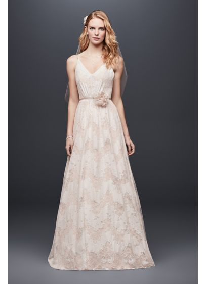 Long A-Line Boho Wedding Dress - Galina