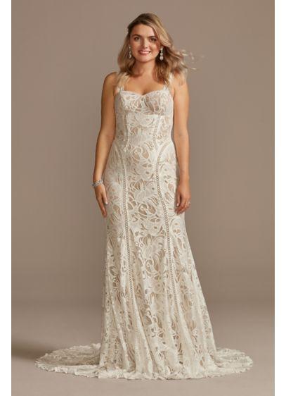 Long Mermaid / Trumpet Boho Wedding Dress - DB Studio
