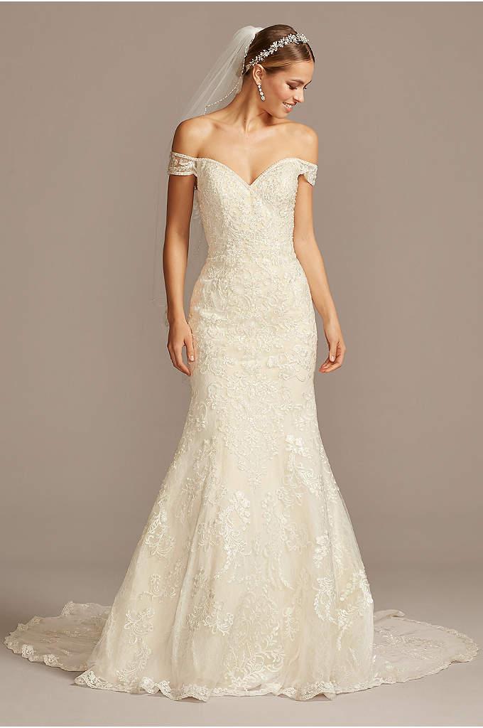Tulle A Line Wedding Dress With Beaded Waist Davids Bridal