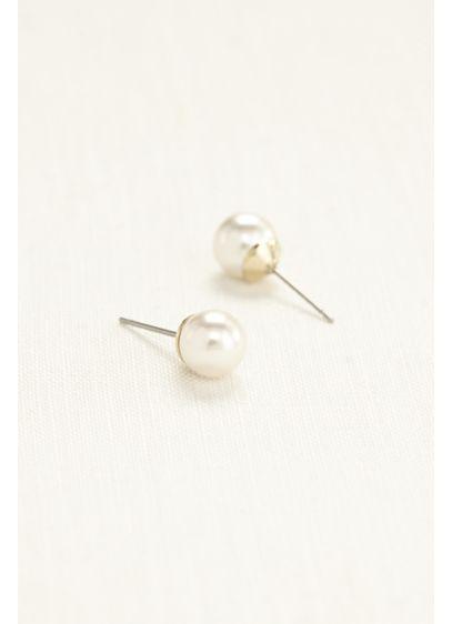 Classic Pearl Stud Earrings - Wedding Accessories