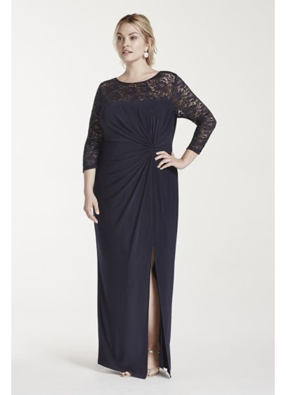 Long Sheath 3/4 Sleeves Cocktail and Party Dress - RM Richards